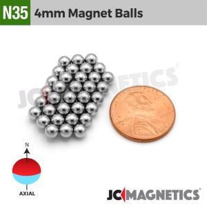 64pcs 4mm - 5/32in Diameter N35 Magnet Spheres Balls Rare Earth Neodymium Magnet